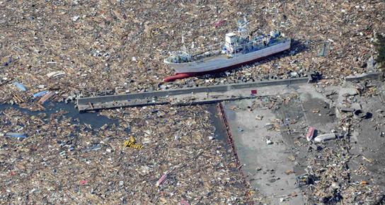 tsunami dechets terremag