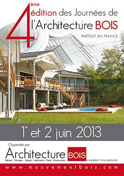 Participez aux Journées de l'architecture bois, les 1er et 2 juin